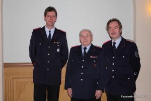 Sven Wrede-Lissow (OBM-V), Günther Rabeler und Helmuth Eckelmann (OBM)